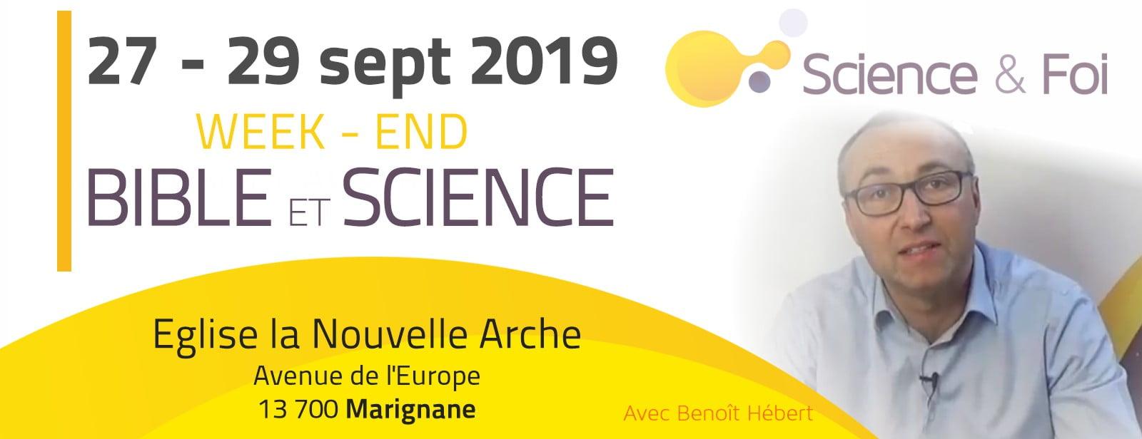 Week-end Bible et Science à Marignane 27-29 sept 2019