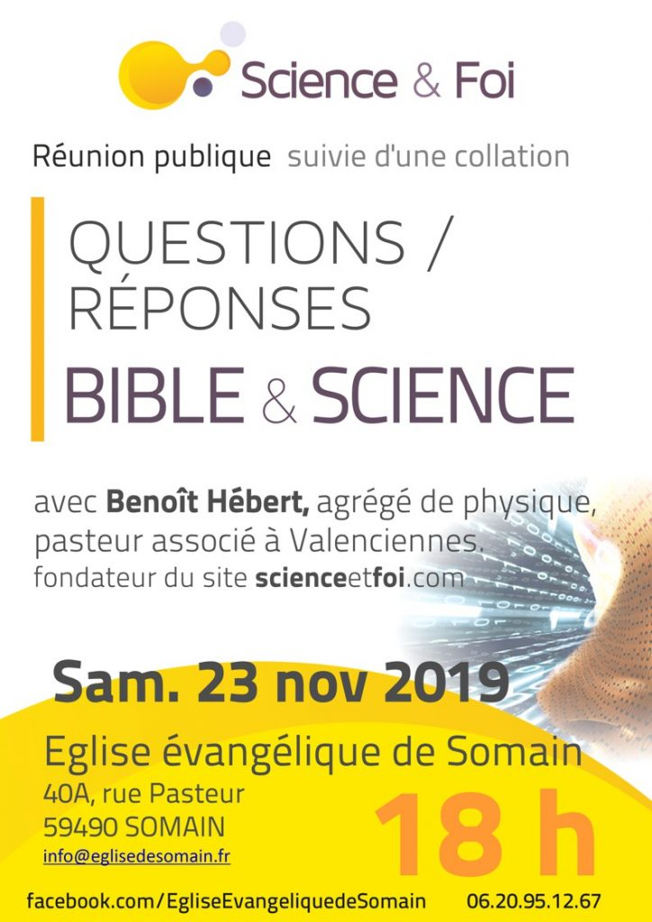 Affiche Bicle et science Somain 2019