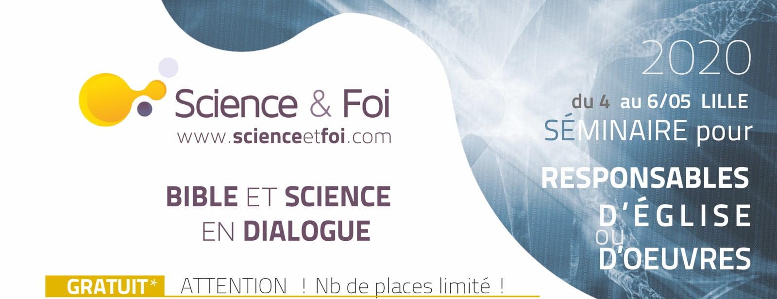 participez au séminaire Bible et science en dialogue du 4 au 6 mai 2020