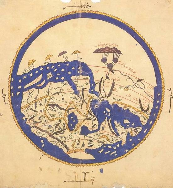 Carte du monde traité d'Al-Idrisi (1154)